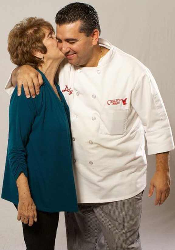 Buddy Valastro with his mother