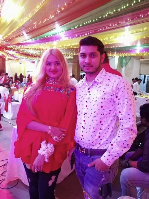 DJ Sonica with her husband photo