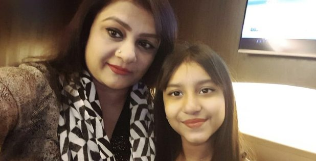 Helena Jahangir with her daughter