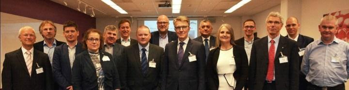 Lindsay Yeoman with representatives at the EULIS AGM