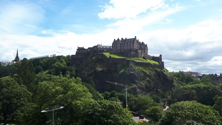 View of Edinburgh Castle from the venue