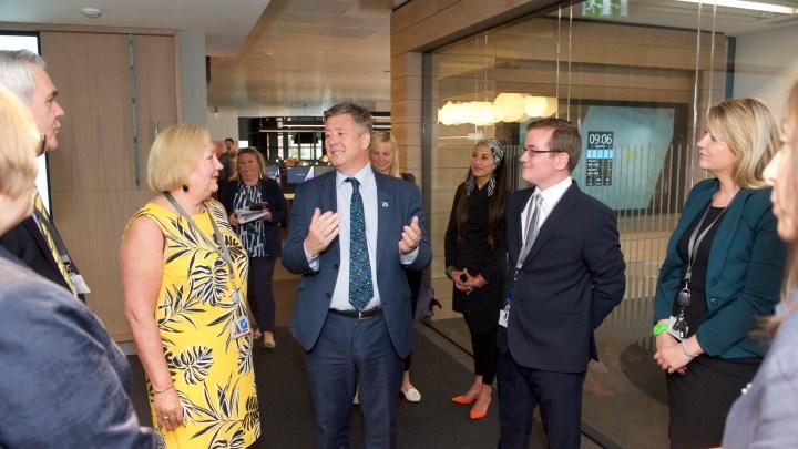 RoS staff meeting the Cabinet Secretary