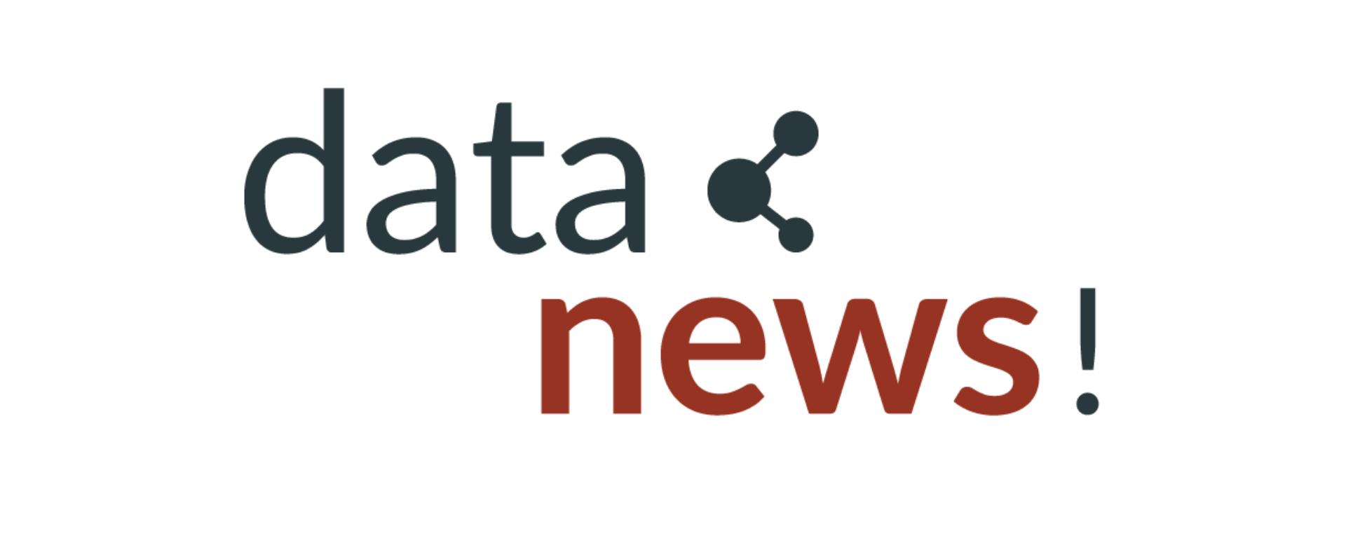 Graphic reading 'data news!'