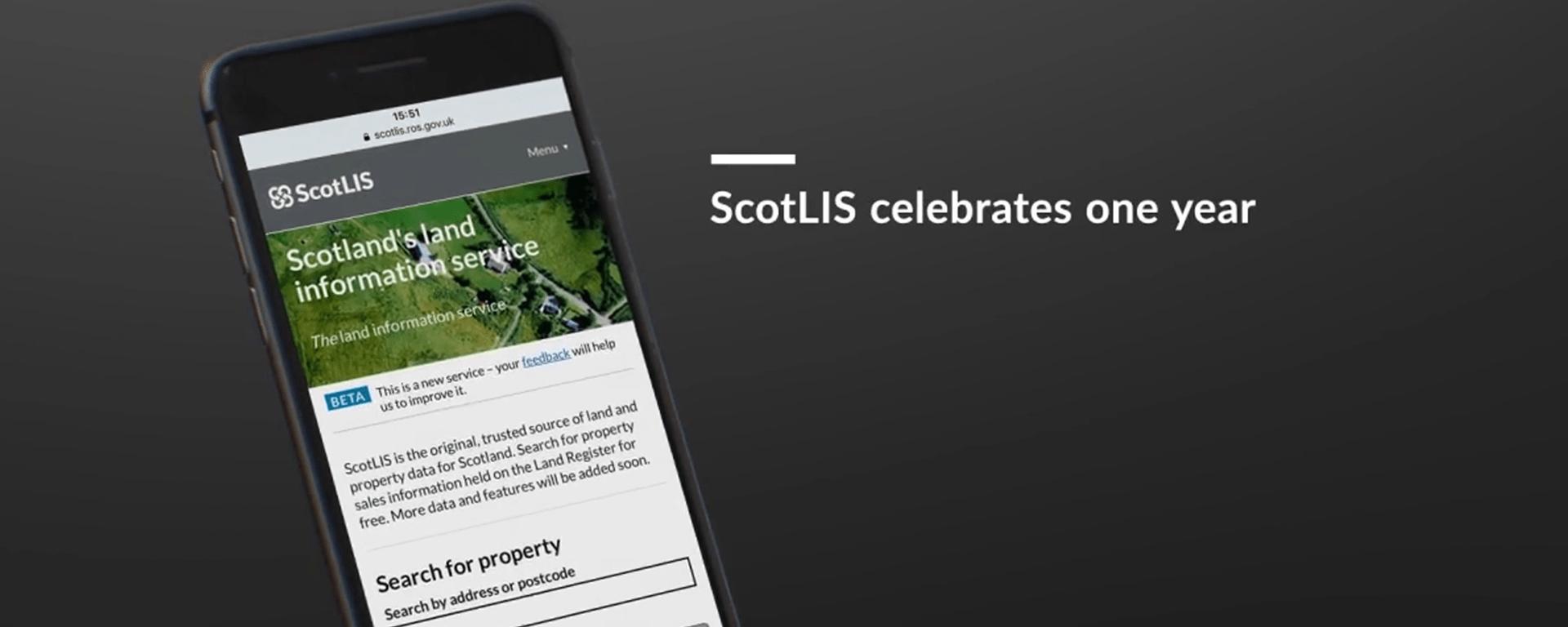 ScotLIS celebrates first anniversary