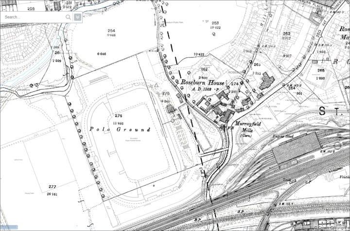 1877 country series map overlaid on today's OS map