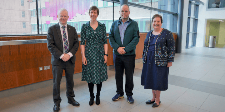 Jennifer with MSPs John Mason, Andy Wightman and Jackie Baillie