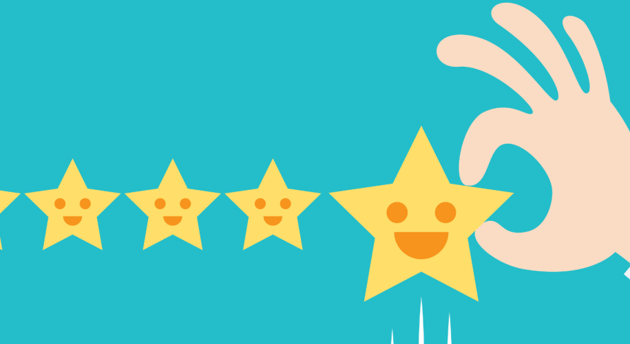 Customer satisfaction star rating