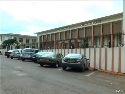 The Ekounou Tribunal is seen in Yaounde, Cameroon, Sept. 18, 2019. (M. Kindzeka/VOA)