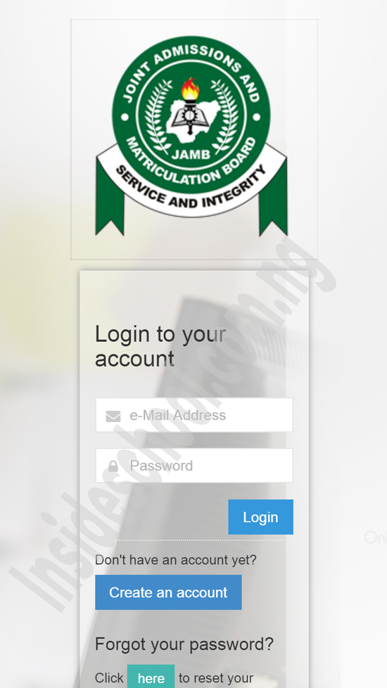 JAMB CAP MOBILE LOGIN - JAMB CAPS Portal 2021: How to ACCEPT or REJECT Admission Offer
