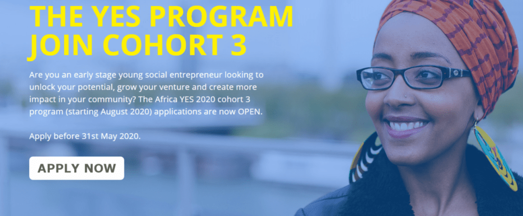 YESSS 1024x423 - Africa Young Entrepreneur Support (YES) 2020 cohort 3 for African Entrepreneurs (Fully-funded)