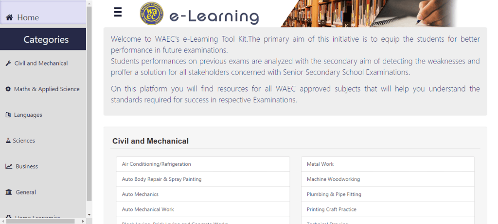 waec e learning 1024x462 - Covid-19: West African Examinations Council (WAEC) Launch e-Learning Platform
