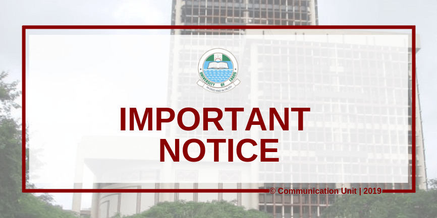 Important Notice 2 - COVID-19: UNILAG Notice to Staff on Resumption of Duty