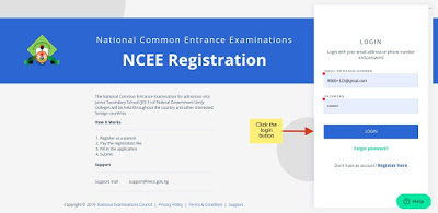 NCEE Portal Login 2 - NCEE 2020/2021 Registration Form for Unity Schools [Photos]