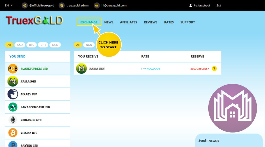 BUY 1 1024x569 - How to buy and sell Perfect Money on TrueXGold.com