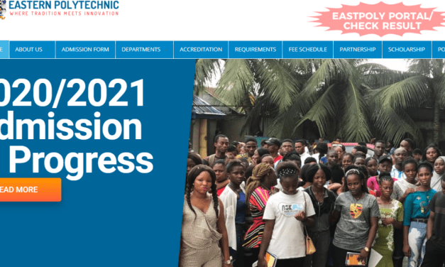 Eastern Polytechnic ND Part-Time/Weekend Admission Form 2020/2021