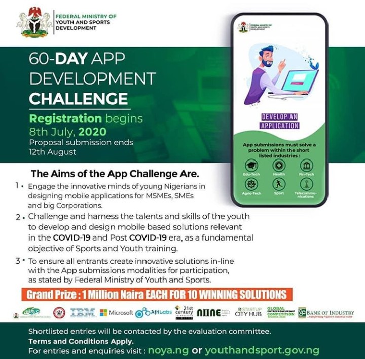 IMG 20200725 160526 955 - COVID-19: Ministry Launches App Development Challenge to Fire Up Creativity in Youth