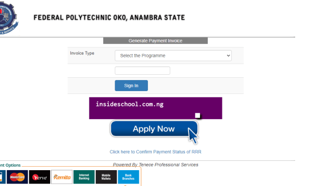 Federal Polytechnic Oko (OKOPOLY) ND Part-Time Admission Form 2020/2021 Announced