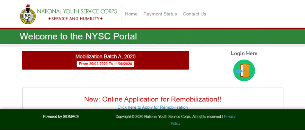 nysc portal 1024x438 - NYSC Online Registration Guide and Requirements for 2020 Batch 'B' Stream IB [UPDATED]