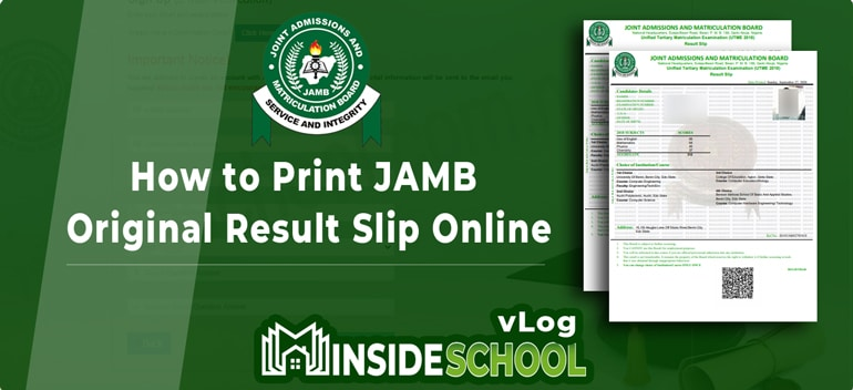 How to Check JAMB Original Results Online 1 - How to Print JAMB Original Result Slip Online [VIDEO]