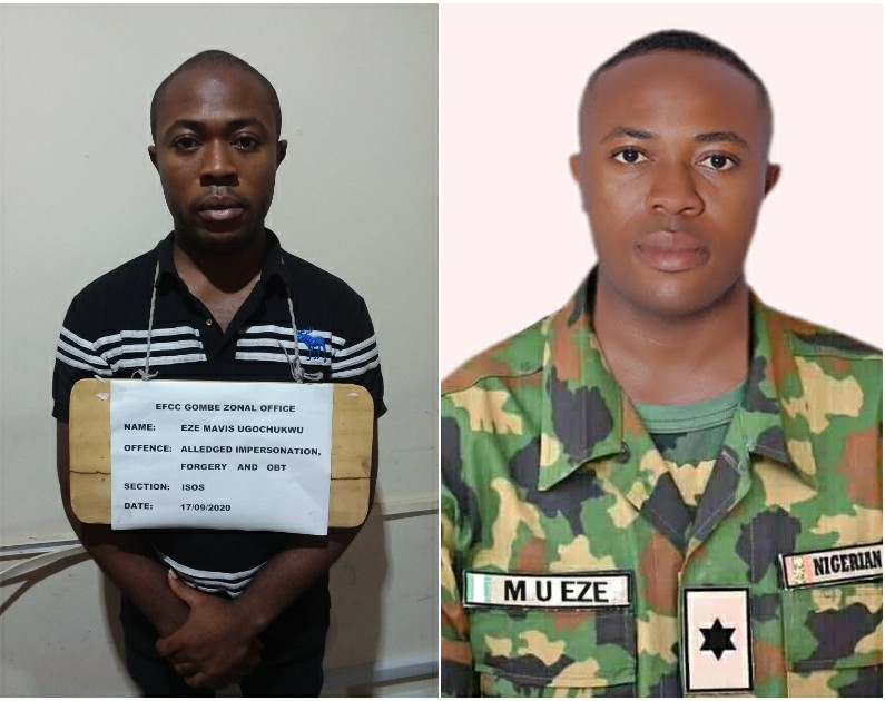IMG 20200922 111128 774 - Fraud: Polytechnic Student arrest by Nigerian army for posing as a lieutenant (photos)