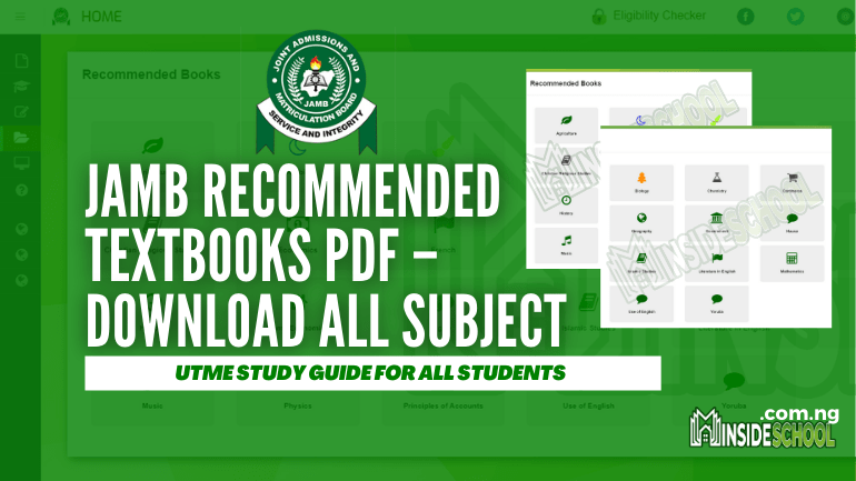 JAMB Recommended TEXTBOOKS 1 - JAMB Recommended TEXTBOOKS PDF - Download All Subject
