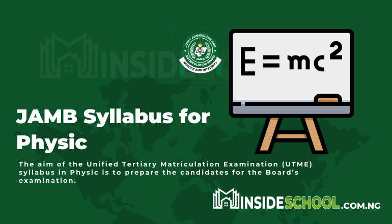 JAMB Syllabus for Physic pdf - Joint Admissions and Matriculation Board (JAMB) Syllabus for Physics