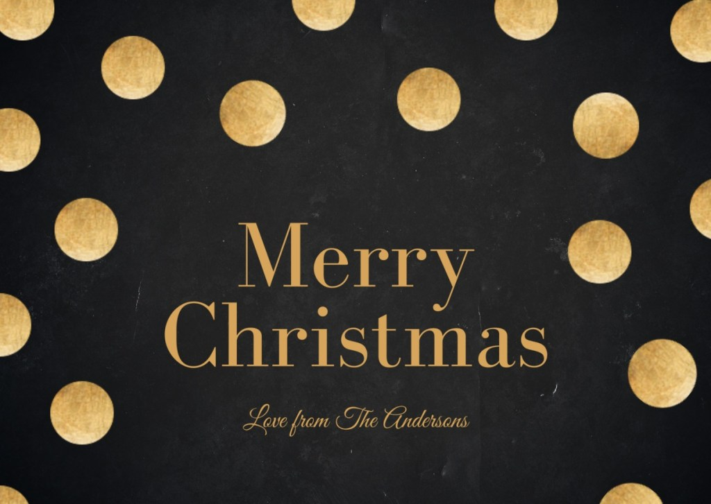 Gold Dots Merry Christmas 1024x727 - Merry Christmas 2020: Greetings images, SMS, Messages, Quotes for Instagram , WhatsApp, Facebook status