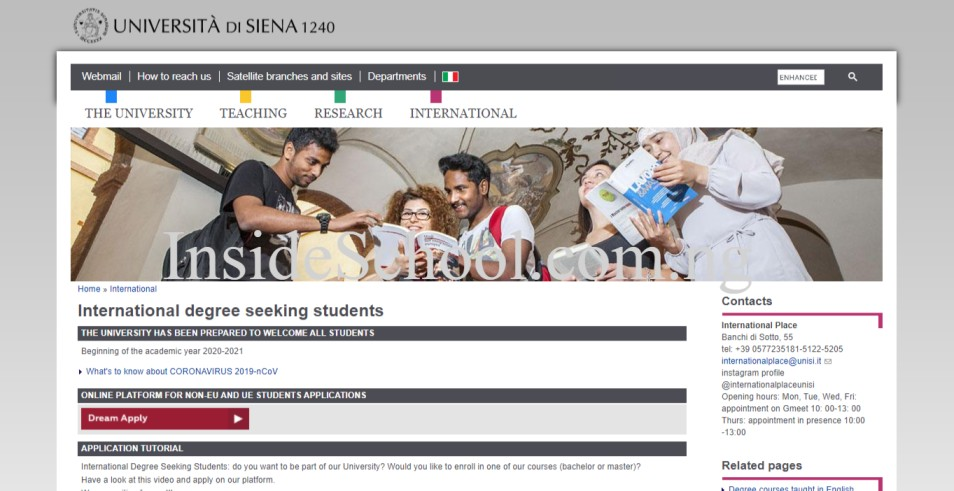 University of Siena 1 - 10 Cheapest Universities in Italy for International Students