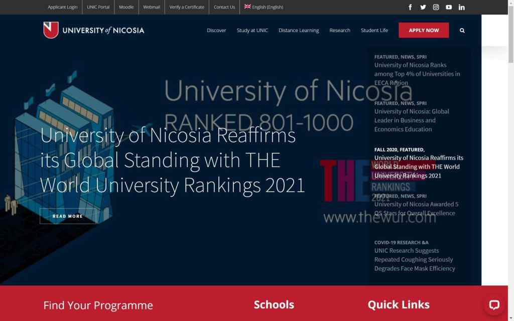 www.unic .ac .cy Laptop with HiDPI screen 1024x640 - Study in Cyprus: Top Seven (7) Cyprus Universities for Prospective Nigerian Students and their Website