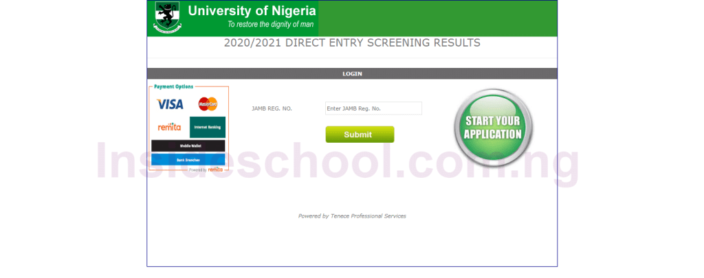 UNN Direct Entry Screening Result 1024x405 - University of Nigeria Nsukka (UNN) Direct Entry Screening Result for 2020/2021 Checker Activated