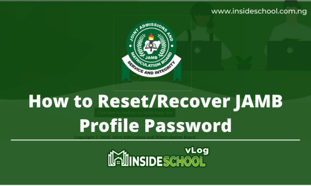 How to Reset/Recover JAMB Profile Password