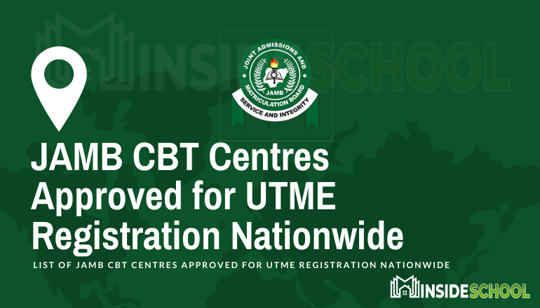 JAMB CBT Centres Approved for UTME Registration Nationwide 1 - JAMB CBT Centres Approved for 2021 UTME Registration Nationwide