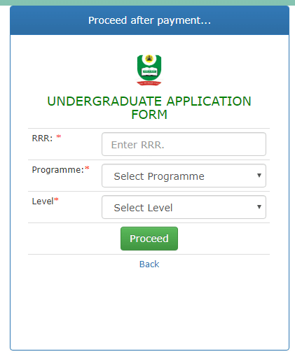 NOUN Admission Application Payment Page 1 - How to Apply For National Open University Of Nigeria (NOUN) Admission Form 2021