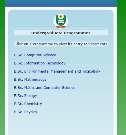 NOUN Programme Application Page - How to Apply For National Open University Of Nigeria (NOUN) Admission Form 2021