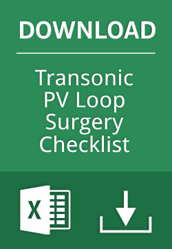 Transonic PV Loop Surgery Checklist