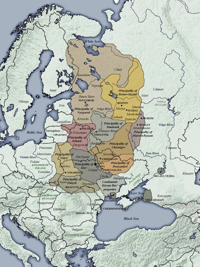 principalities of kievan rus 1054 1132