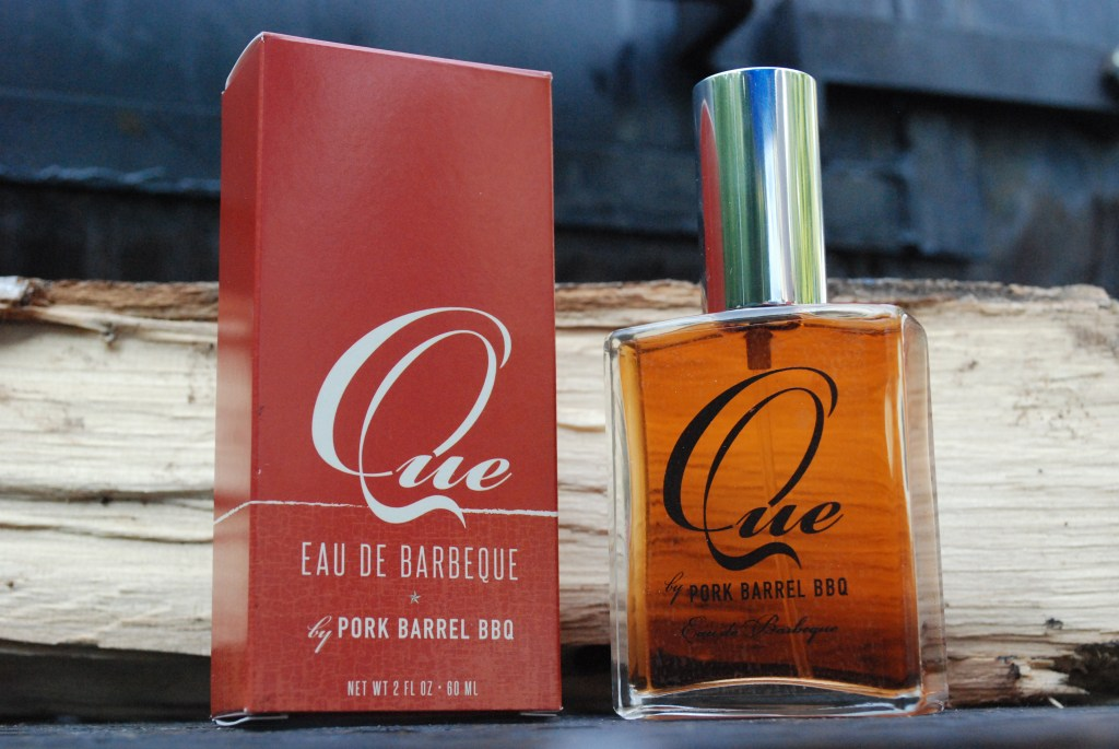 Que BBQ cologne from Pork Barrel BBQ