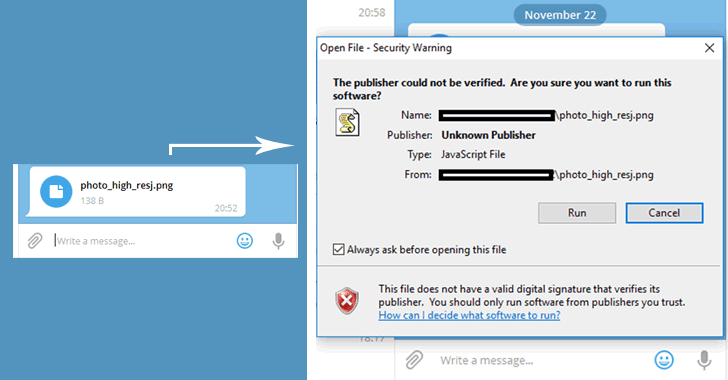 telegram desktop ha una vulnerabilità zero-day