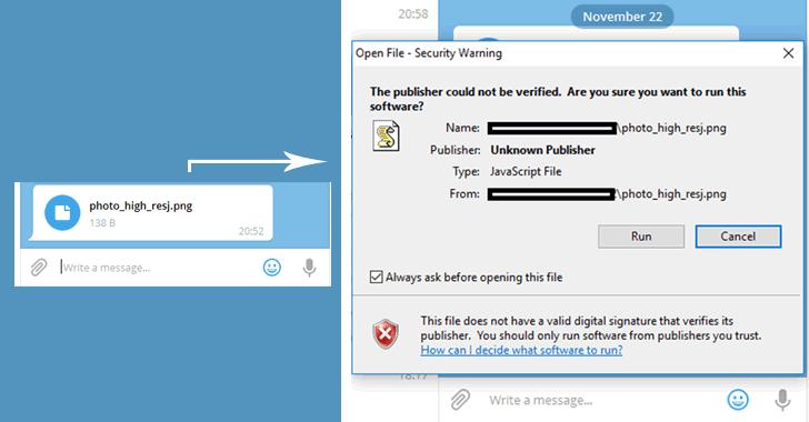telegram desktop ha una vulnerabilità zero-day