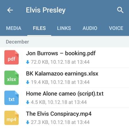 telegram 5.0 per android contenuti condivisi