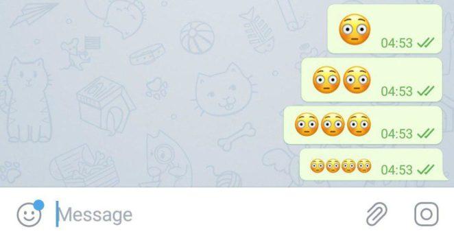 telegram 5.5 per android e ios emoji