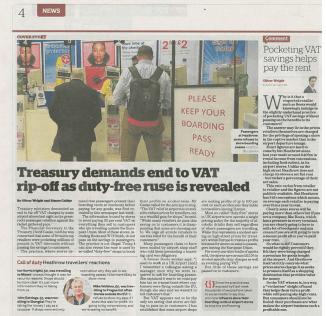 i newspaper 12-08-15 VAT issue