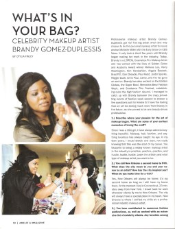 What's In Your Makeup Bag article