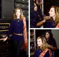 Makeup Artist BrandyGomez-Duplessis doing hair & makeup on Allison Janneyat Sundance Film Festival