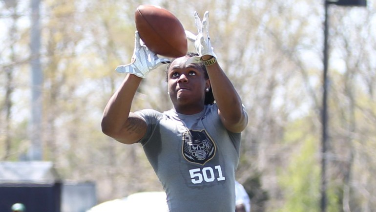 Anthony Mc Farland Jr. at the 2016 Nike Football The Opening Regional in Washington DC.