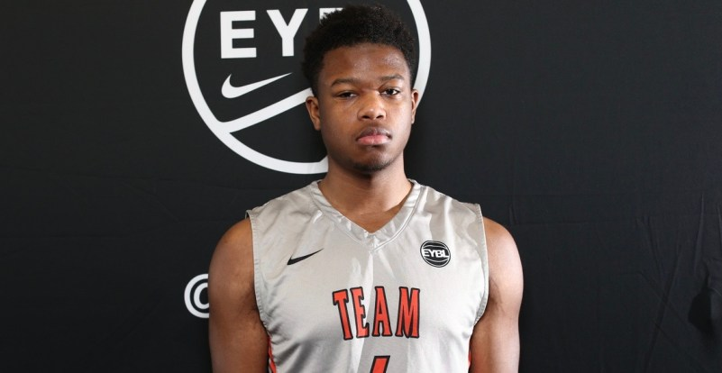 Atlanta, GA - SUNDAY, MAY 29: Nike EYBL. Myles Douglass #4 of Team Takeover Session 4. (Photo by Jon Lopez)