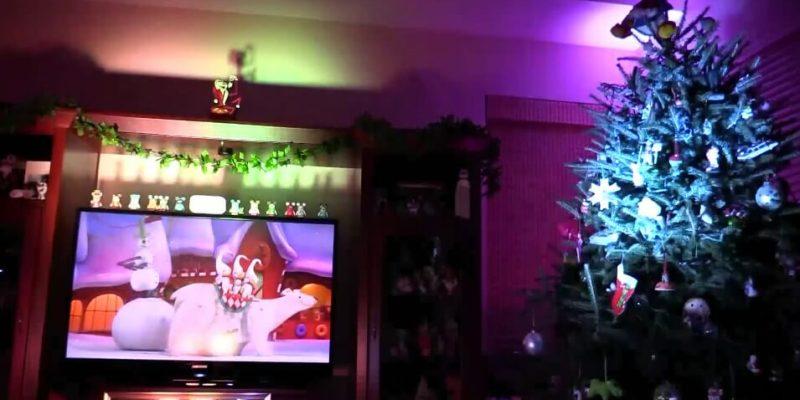 video nightmare before christmas light show inside the magic living room display - Nightmare Before Christmas Lights