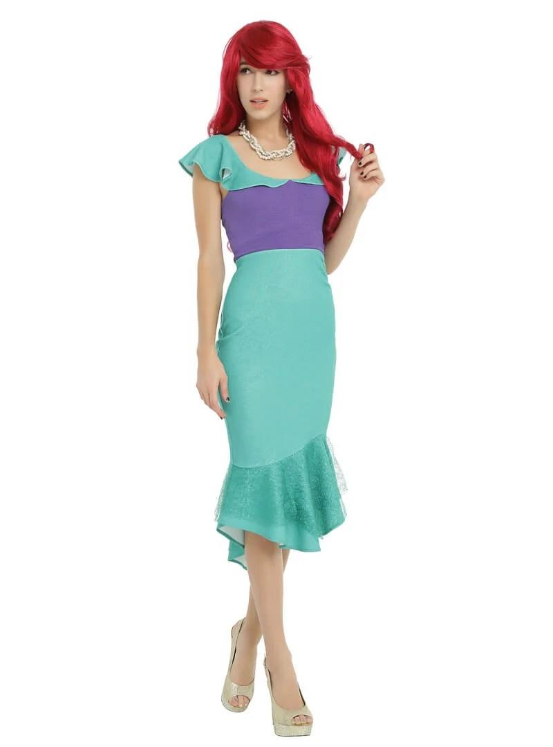 Disney The Little Mermaid Ariel Cosplay Ruffle Dress From