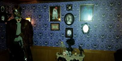At home imagineering Haunted Mansion room