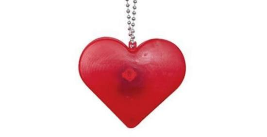 LED Flashing red heart